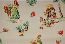 Vintage Novelty Wallpaper / by Rosie's Vintage Wallpaper