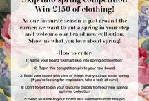 Skip into spring / What we love about spring. Make your own 'skip into spring' board for a chance to win £150 of Damart clothing! / by Damart UK