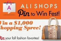 "Ali Shops ""Pin to Win"" Fest / http://pinterest.com/nmwest1/ali-shops-pin-to-win-fest/ / by Nikki Wallace"