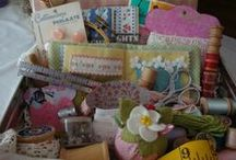 Sewing Basket / collection of things to sew / by GrannyB's Cottage