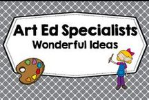 Wonderful Art Ideas / Art ideas to use with children or classrooms, not crafts but ideas worthy of the art classroom specialist, famous artists, how to draw, painting techniques. PLEASE PIN ONE FREEBIE AT THE SAME TIME A PRICED PIN IS ADDED. Photos of covers and products in use make the best pins, please do not pin the tiny covers from online stores, and no photos only. Thank you. / by Carolyn Wilhelm, NBCT, Wise Owl Factory