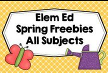 SPRING FREEBIES Elementary Ed / Freebies especially for spring, K-6, free lessons, science, geography, novel studies, phonics, Earth Day, April Fools, Vocabulary, games, place value, writing. Photos of products in use make the best pins, please do not pin the tiny covers from online stores, and no photos only. Thank you. / by Carolyn Wilhelm, NBCT, Wise Owl Factory