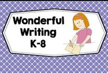 wonderful writing ideas  + lessons / Handwriting, emergent writing, writing workshop,manuscript print, cursive, K-6,creative writing, summer writing. FREEBIES WELCOME ANYTIME. PLEASE PIN ONE FREEBIE AT THE SAME TIME A PRICED PIN IS ADDED. Photos of covers and products in use make the best pins, please do not pin the tiny covers from online stores, and no photos only. Thank you. / by Carolyn Wilhelm, NBCT, Wise Owl Factory
