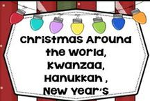 Christmas Around the World, Hanukkah, Kwanzaa, New Year's / Christmas, December Holidays, New Years, family and class ideas and information. ALL FREE ALL THE TIME. please no priced items. Please check this area for any changes in rules.  Thank you. / by Carolyn Wilhelm, NBCT, Wise Owl Factory