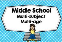 Middle School Multi-Age Multi-Subject / For FREE resources for individual teachers who teach multi-age, several grades, several years in a row, and teach multi-subject areas. ALL FREE RESOURCES ONLY, PLEASE! Photos of covers and products in use make the best pins, please do not pin the tiny covers from online stores, and no photos only. Thank you. / by Carolyn Wilhelm, NBCT, Wise Owl Factory