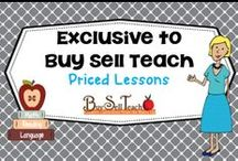 Buy Sell Teach Exclusive Lessons / Lessons exclusive to BuySellTeach and not available at other online educational stores.  / by Carolyn Wilhelm, NBCT, Wise Owl Factory