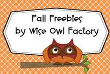 Fall Freebies by Wise Owl Factory / by Carolyn Wilhelm, NBCT, Wise Owl Factory