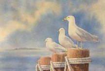 Art Watercolor & Pen and Ink wash or drawings/paintings  / Watercolor and Pen & Ink wash drawings or paintings / by Martha Smith Ⓥ