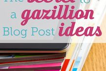 Blogging / Get blogging. Tell your stpry! / by Amy Robles