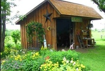 Garden Sheds / From simple structures used to house tools to elaborate buildings with plumbing and electricity, there are a number of uses for backyard sheds.  Get ideas here, http://www.gardendesign.com/find/garden%20shed.  / by Garden Design