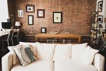 Home: Exposed Brick Interiors / by Krissy Schmidt