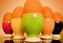 ::Egg Cups:: / Containers used for serving boiled eggs within their shell. Pretty, vintage, collectible egg containers.  / by Colleen Lucas