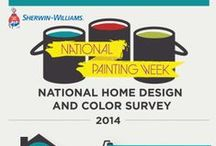 National Painting Week 2014 / During Sherwin-Williams' National Painting Week, gather color inspiration, project ideas, helpful tips and more for your spring painting and home improvement projects. / by Sherwin-Williams