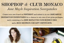 Shopbop + Club Monaco Jane Mayle Inspiration / Enter our sweepstakes for your chance to win a limited edition Jane Mayle for Club Monaco bag plus $500 Shopbop gift certificate!  / by Shopbop