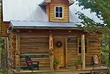Log Cabin / Traditional and Contemporary Log Cabins and Interior Decor / by The Hummingbird Garden Diva