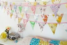 I Heart Bunting / Buntings, Bunting, Garland, Banners, Streamers.  / by Tracy Dyer