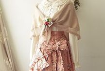 A Romantic Shab' / Romantic = ruffles, lace, pale pastels, feminine, vintage cotton, messy hair, faded prints, boho, providence, beautiful messy prettiness <3 / by Tracy Dyer