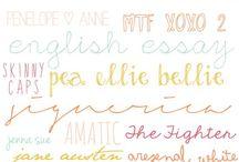 font addiction / by Sara Zaugg