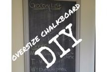 Chalkboard & Bulletin Boards DIY / Tutorials and inspiration for DIY chalkboards and bulletin boards for the home / by My Life On The Divide