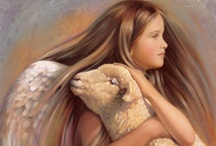 Angels / Angels around us, angels beside us, angels within us.   Angels are watching over you when times are good or stressed.  Their wings wrap gently around you whispering you are loved and blessed. / by Beth Mills Foster