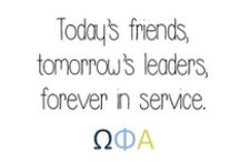 Friendship, Leadership, & Service (ΩΦΑ) / by Cassidy Ray