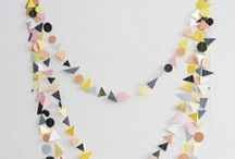 Bunting*Garlands*Pom-Poms / ideas for decorating with garlands and bunting of all kinds. / by Moozle