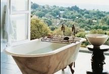Tub envy / Beautiful bathrooms featuring bath tubs. / by Moozle