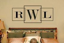Monogram Stencils / Monogram stencils are a great way to decorate your space / by Wall to Wall Stencils, Inc.