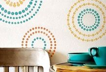 Circle Up / Circle Stencils, Polka Dots - spunkify your spaces! / by Wall to Wall Stencils