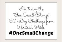 One Small Change / Follow the stories of these bloggers as they make #OneSmallChange towards a healthier lifestyle. / by Puritan's Pride