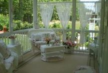 Porches, Patios, Outdoor spaces / by ShabbyPinkGirl