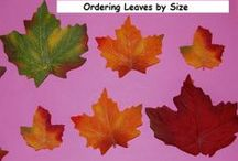 Fall Trees and Leaves Theme for Preschool and Kindergarten / Playful Learning Activities for a Fall TREES AND LEAVES THEME in Preschool and Kindergarten / by thepreschooltoolbox