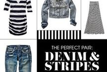 Denim & Stripes / The Perfect Pair: Denim & Stripes. Easy, timeless, and always in-style. Find your essentials here. / by Jean Machine