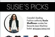 Susie's Fall Picks! / Fall back in love with style and simplicity. Canada's leading style authority, Susie Sheffman curates her favourite Jean Machine looks for this season & beyond. #fallbackinlove / by Jean Machine