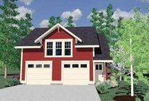 Garage Plans / 70' wide lot next door = possible hobby garage / by Karen