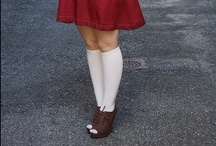 Socks & Peep Toes / A collection of looks featuring socks and tights worn with peep toe shoes. / by Pantyhose Party