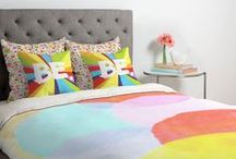 DENY DUVET COVERS / Turn your basic, boring down comforter into the super stylish focal point of your bedroom! Custom printed when you order it, this duvet cover is not only personal, but incredibly cozy as well. Created out of microfiber material that is unique to DENY Designs, our duvets are ultra soft and amazingly comfortable.  / by DENY Designs