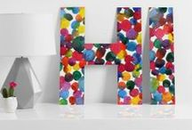 DENY WALL LETTERS / From A-Z and more, you can get wall crazy with over 5,000+ designs! Perfect for monograms, newlyweds, nurseries, or funky entryway messages! / by DENY Designs