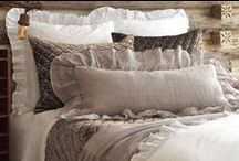 Rustic Bedding and Home Décor / Rustic reverie, rich textures, outdoor-inspired home décor including our collection of bedding, pillows, throws, sleepwear, scarves, table linens, and more. http://www.pineconehill.com/world/haute+lodge / by Pine Cone Hill