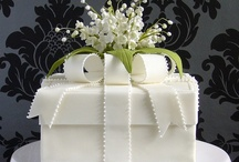 """Cake Decor ~ Wedding Whites / """"White is not a mere absence of color; it is a shining and affirmative thing, as fierce as red, as definite as black. God paints in many colors; but He never paints so gorgeously as when He paints in white."""" ~ G.K. Chesterton, Orthodoxy  / by spectrumdaze"""