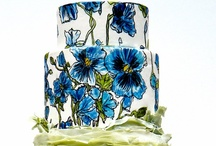 """Cake Decor ~ Florals 1 / """"Where flowers bloom so does hope.""""  ~ Lady Bird Johnson / by spectrumdaze"""