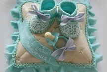 """Cake Decor ~ Baby Shower / """"The artist is nothing without the gift, but the gift is nothing without work.""""  ~  Emile Zola    / by spectrumdaze"""