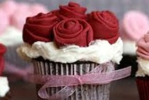 """Cake Decor ~ Cupcakes / """"Compromise is the art of dividing a cake in such a way that everyone believes he has the biggest piece.""""  ~ Ludwig Erhard    / by spectrumdaze"""