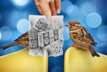 ART - Pencil Vs. Camera Art by Ben Heine / Photography and art combines.Got a pencil and paper and a ton of creativity? If not Ben Heine sure does. A great photographer and artist truly makes the perfect photographs. Imagine taking a simple photograph and adding a very detail artistic touch to it, Ben does just that! / by Julie Richards