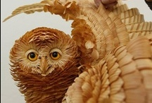 Art - Wood Carvings / Art made from wood carvings / by Julie Richards