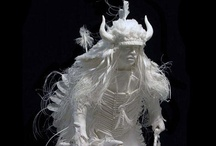 ART - Book and paper sculptures / Sculptures made from books and paper / by Julie Richards