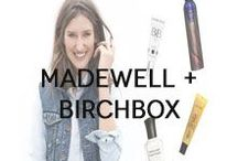 "Madewell + Birchbox  / In celebration of Madewell's cheery spring collection, we've put together a collection of some beauty musts, like theBalm's ""what's your type"" mascara and Supergoop!'s lightweight SPF. / by Birchbox"