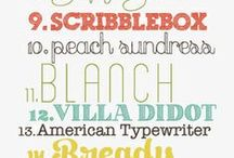 Pretty Prints & Fonts / by Danielle Hixenbaugh