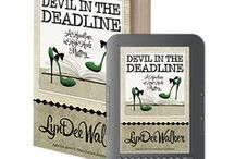 DEVIL IN THE DEADLINE / When the Richmond police offer an exclusive in exchange for help with a case, nothing stops reporter Nichelle Clarke from making Manolo tracks to the crime scene. She's led to a televangelist's compound where the Reverend may be more interested in fat stacks of cash than he is saving wayward souls. With two sexy guys tangled up in her story, work & love are on a crash course for disaster. Nichelle must unmask the killer & nail down the story before she's snared in the carefully-constructed web. / by Henery Press