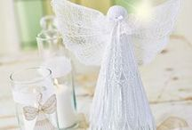 Lace Angel complete Kit (US & Canada only) - November 2013 / A little piece of heaven just landed here on Earth! Create this delicate lace angel that surely will brighten any room. This complete kit includes both heavy weight water soluble stabilizer and 2 spools of embroidery thread. Of course you'll also get the instructions on how to make this wonderful lace angel. And as if that weren't enough: you get two extra designs as well! / by Husqvarna Viking® Sewing and Embroidery Machine